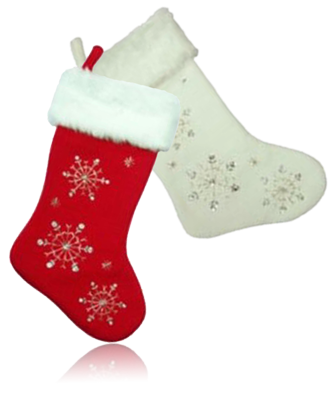 snowflake stocking set